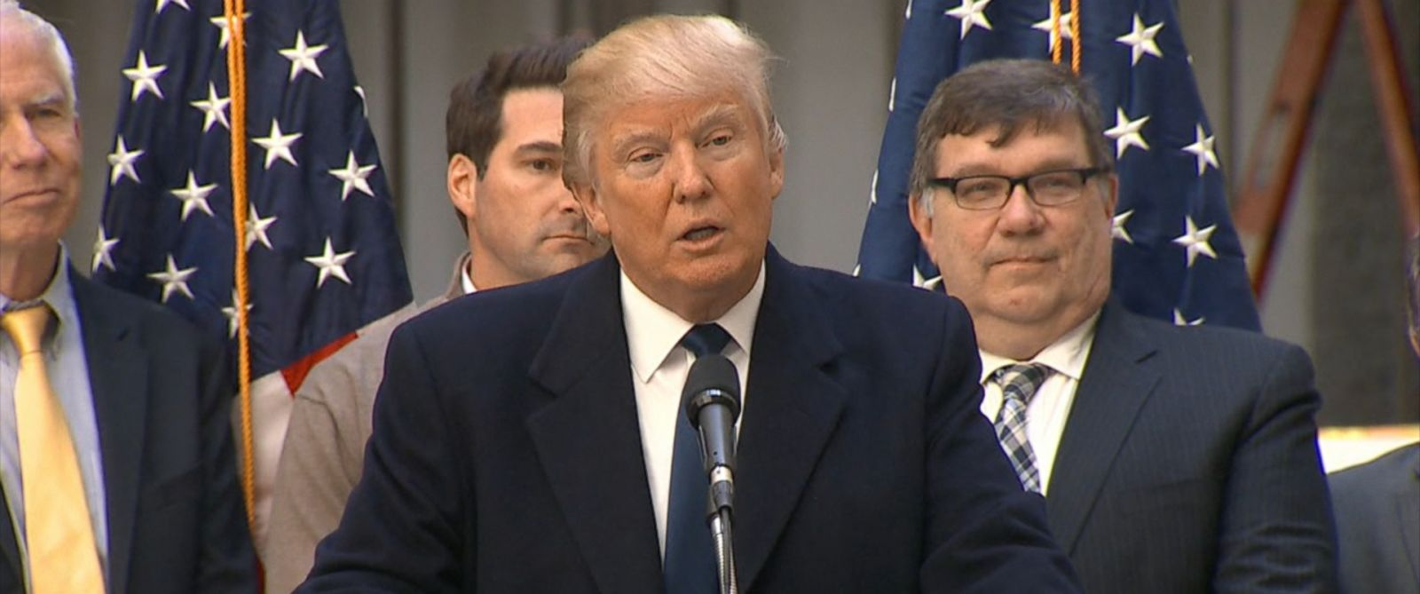 PHOTO: Donald Trump is seen here speaking at an event in Washington, March 21, 2016.