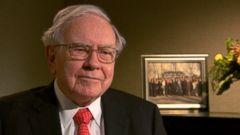 PHOTO: Warren Buffett interviewed by ABCs Rebecca Jarvis.