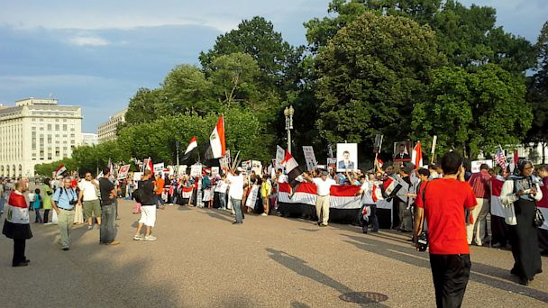 ABC white house egypt protest 01 jef 130729 16x9 608 Egyptian Turmoil, Violence Spark Protest at White House