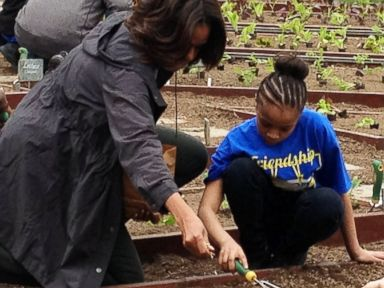 First Lady Gets Down and Dirty at the White House Garden
