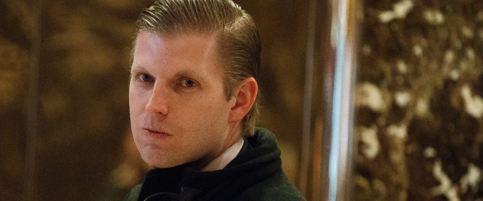 PHOTO: Eric Trump, son of President-elect Donald Trump, waits for an elevator in the lobby of Trump Tower in New York City, Dec. 15, 2016.