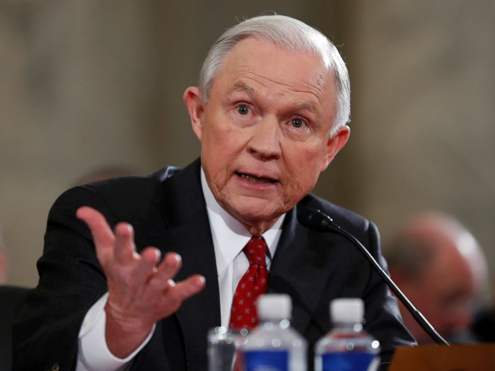 PHOTO: Attorney General-designate, Sen. Jeff Sessions, testifies on Capitol Hill in Washington,D.C., Jan. 10, 2017, at his confirmation hearing before the Senate Judiciary Committee.