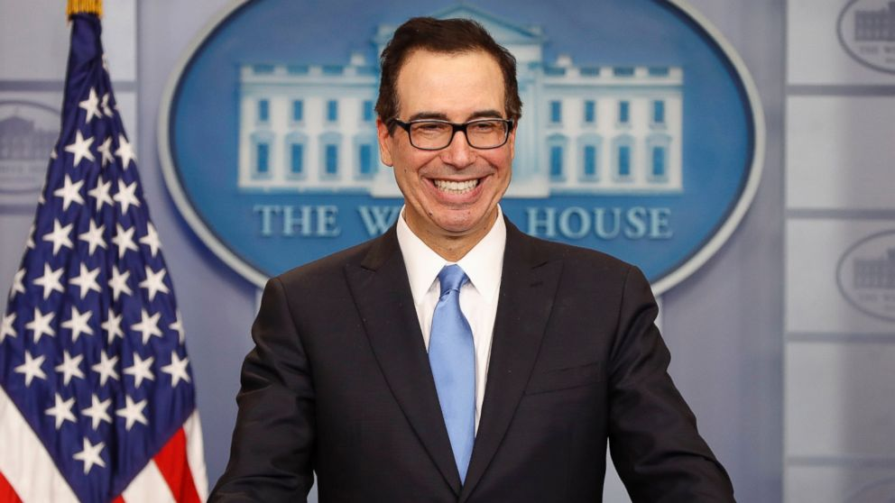 Trump has 'no intention'of releasing tax returns, treasury secretary says