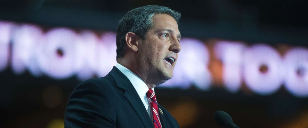 PHOTO: Rep. Tim Ryan, D-Ohio, speaks at the Wells Fargo Center in Philadelphia, Pa., on the final night of the Democratic National Convention, July 28, 2016.