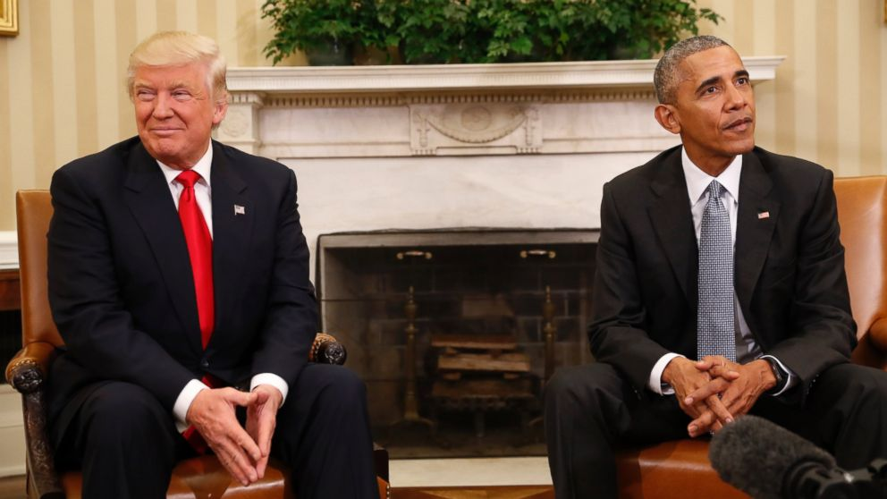 Image result for obama and trump