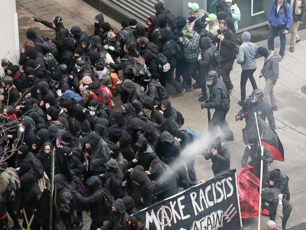 Dozens Arrested After Violence in Parts of Capital on Inauguration Day