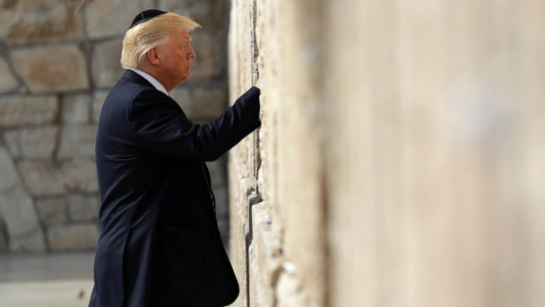 PHOTO: President Donald Trump visits the Western Wall, May 22, 2017, in Jerusalem.