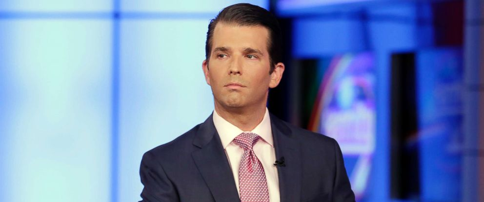 PHOTO: Donald Trump Jr. is interviewed by host Sean Hannity on his Fox News Channel television program, in New York, July 11, 2017.