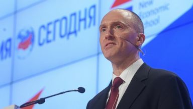 PHOTO: Carter Page, Managing Partner of Global Energy Capital LLC, a foreign policy adviser to Donald Trump during his election campaign speaks in Moscow.