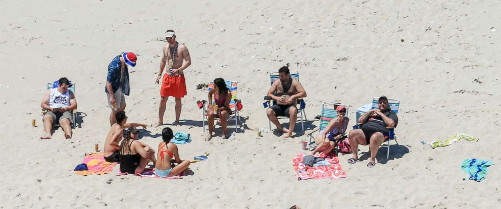 PHOTO: New Jersey Gov. Chris Christie uses the beach with his family and friends at the governors summer house at Island Beach State Park in N.J, July 2, 2017.
