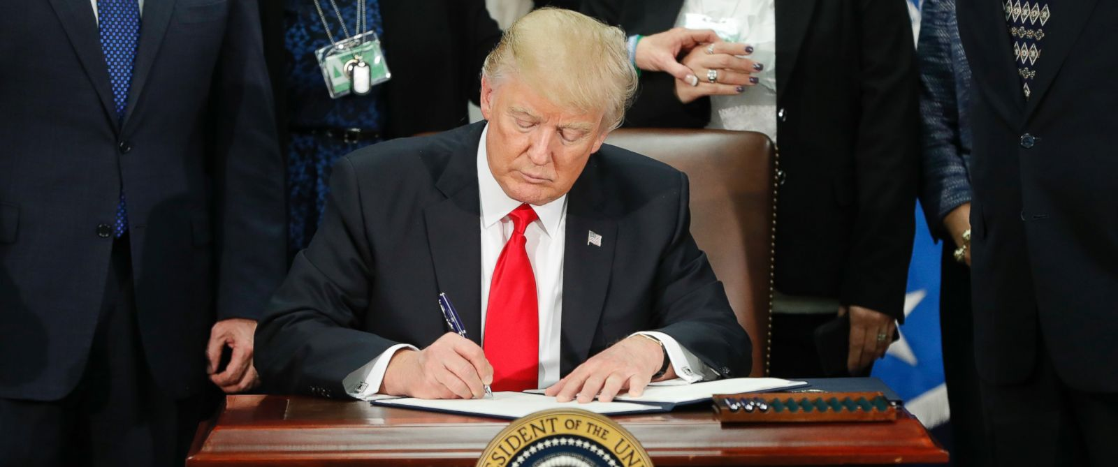 Image result for trump immigration executive order signing