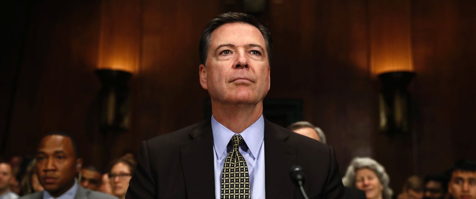 """PHOTO: FBI Director James Comey prepares to testify on Capitol Hill in Washington, May 3, 2017, before the Senate Judiciary Committee hearing: """"Oversight of the Federal Bureau of Investigation."""""""