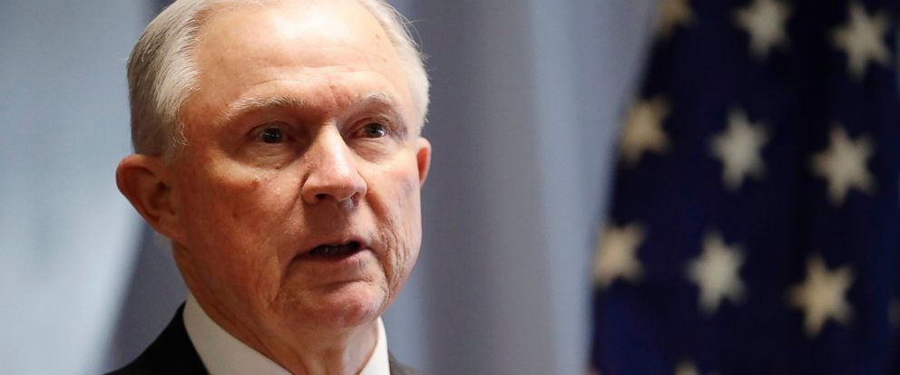PHOTO: Attorney General Jeff Sessions speaks in Central Islip, New York, April 28, 2017.