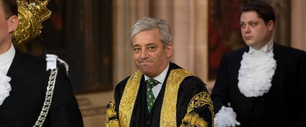 PHOTO: Britains Speaker of the House of Commons John Bercow at the Palace of Westminster in London, June 4, 2014.