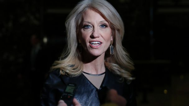 PHOTO: Kellyanne Conway speaks to media as she arrives at Trump Tower, Nov. 21, 2016 in New York City.