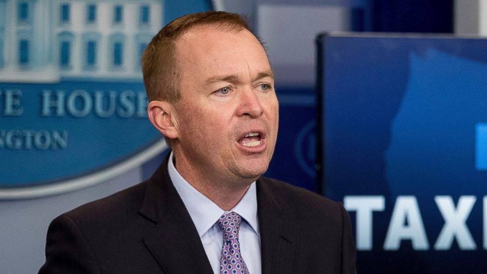 PHOTO: Budget Director Mick Mulvaney in the Press Briefing Room of the White House, May 23, 2017.
