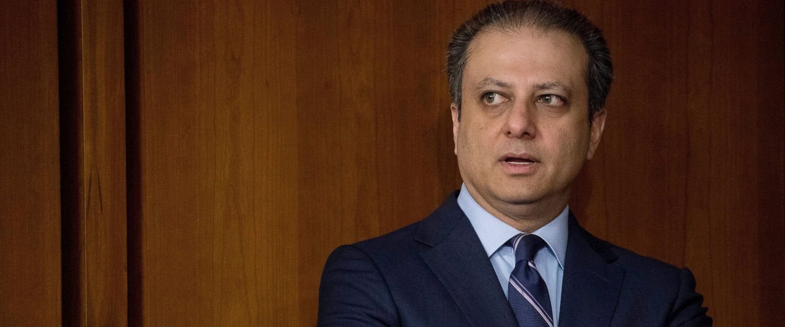 PHOTO: Former United States Attorney General for the Southern District of New York Preet Bharara arrives before former FBI director James Comey testifies at a Senate Intelligence Committee hearing on Capitol Hill, June 8, 2017, in Washington.
