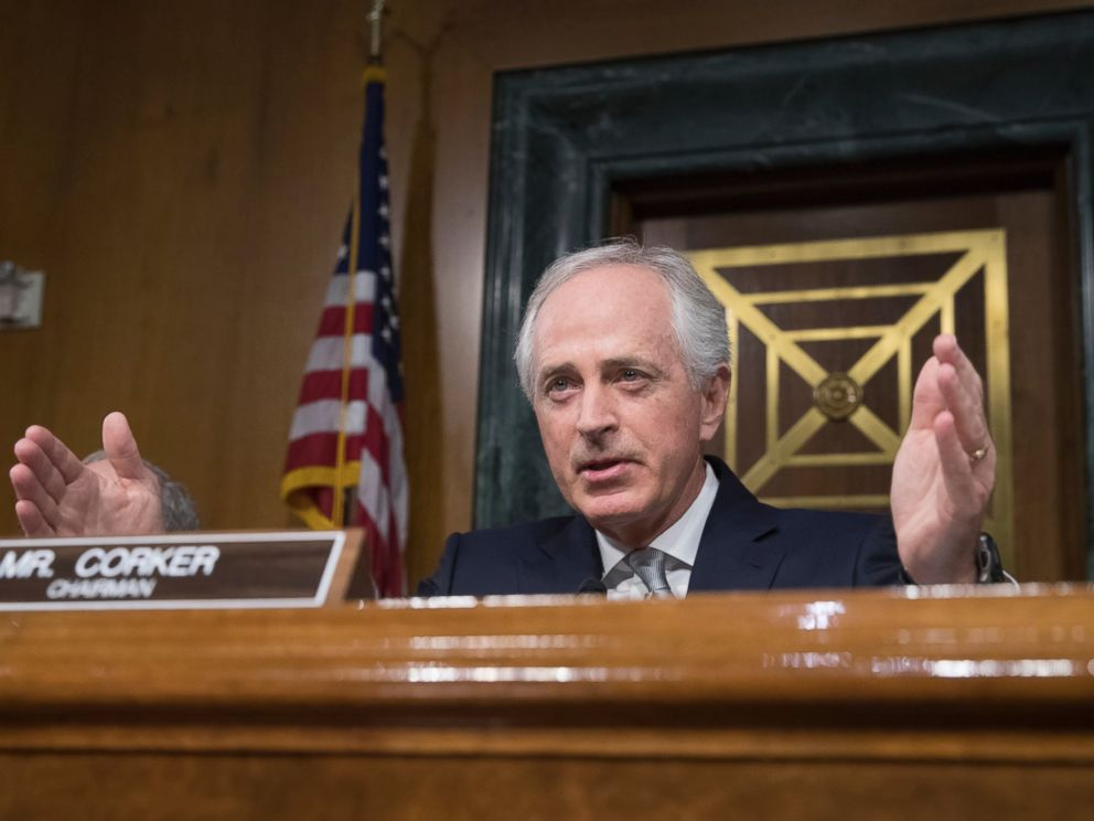 PHOTO: Senate Foreign Relations Committee Chairman Sen. Bob Corker, presides over the committees confirmation hearing for Secretary of State-designate Rex Tillerson, Jan. 11, 2017, on Capitol Hill in Washington