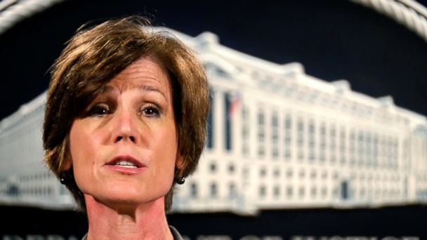 PHOTO: Former Deputy Attorney General Sally Yates speaks during a news conference at the Justice Department in Washington in this June 28, 2016 file photo.