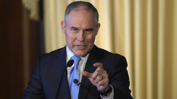 PHOTO: Environmental Protection Agency (EPA) Administrator Scott Pruitt speaks in Washington, D.C., Feb. 21, 2017.