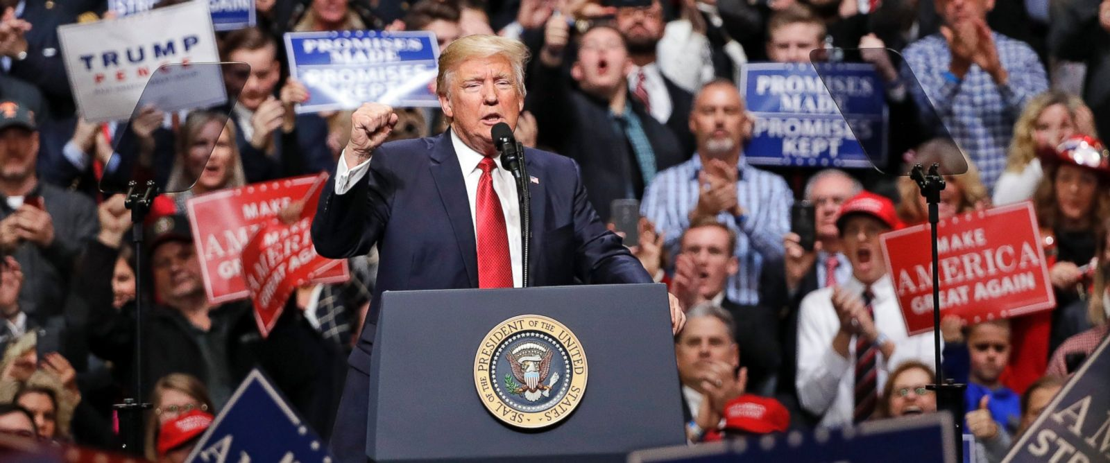 PHOTO: President Donald Trump speaks at a rally, March 15, 2017, in Nashville, Tenn.