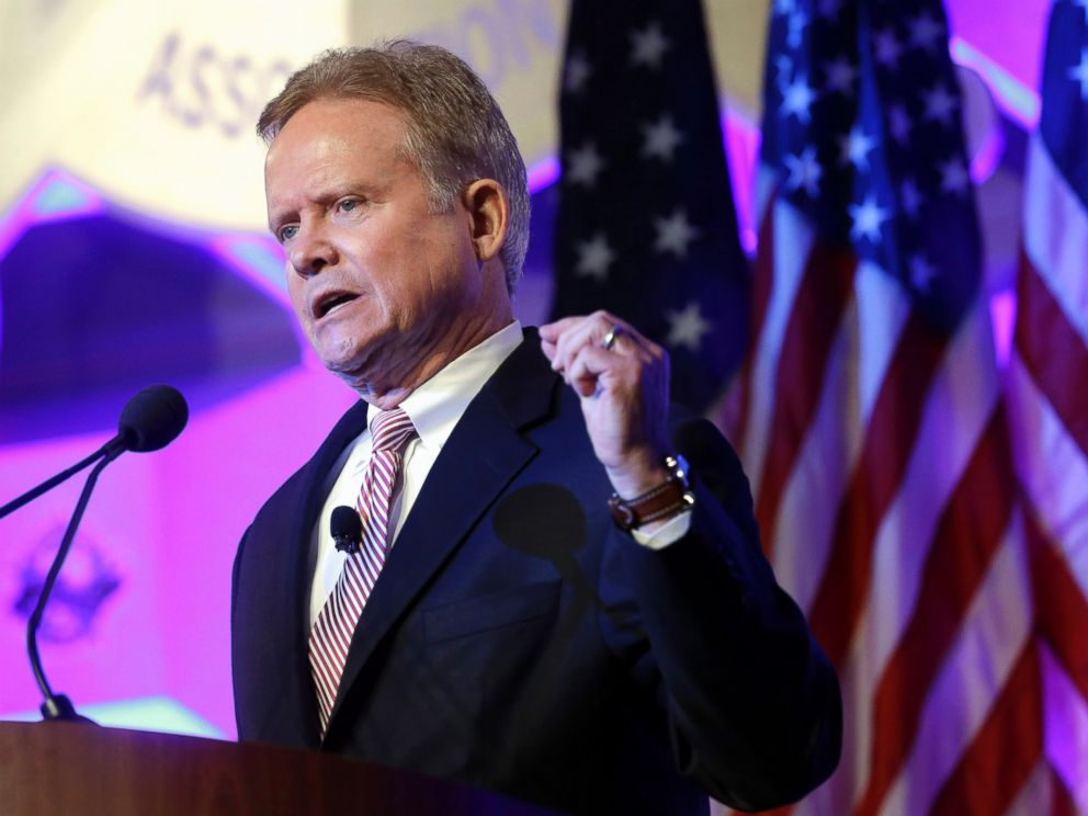 PHOTO: Former Virginia Sen. Jim Webb speaks at the National Sheriffs? Association presidential forum, June 30, 2015, in Baltimore