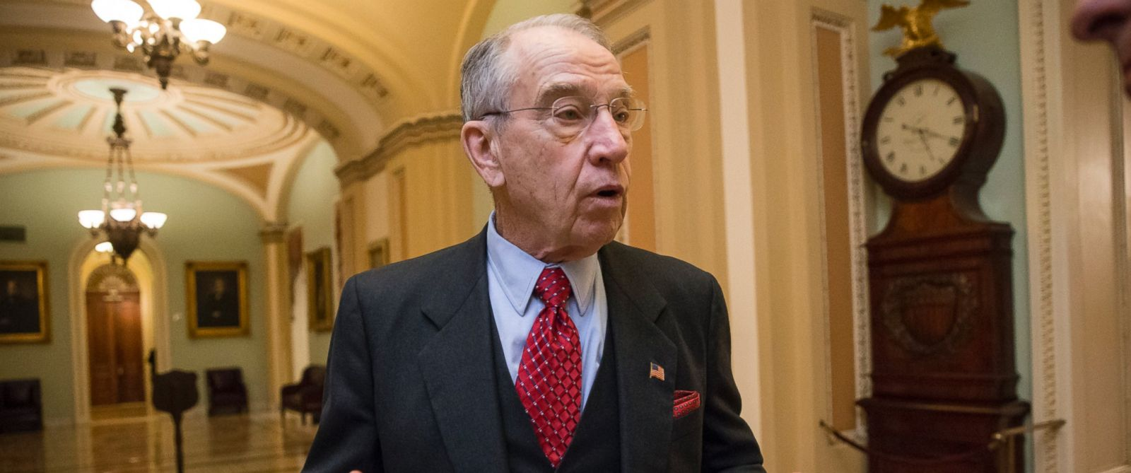 PHOTO: Senate Judiciary Committee Chairman Chuck Grassley walks to the chamber in Washington, Feb. 10, 2016.