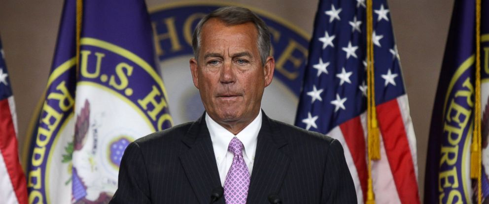 PHOTO: House Speaker John Boehner of Ohio takes questions from reporters during a news conference on Capitol Hill in Washington, Thursday, Jan. 8, 2015.