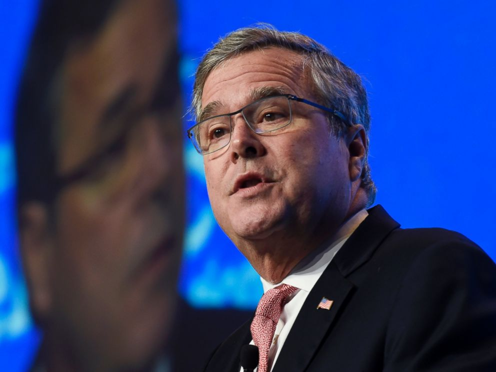 PHOTO: FILE - In this Nov. 20, 2014, file photo, former Florida Gov. Jeb Bush gives the keynote address at the National Summit on Education Reform in Washington.