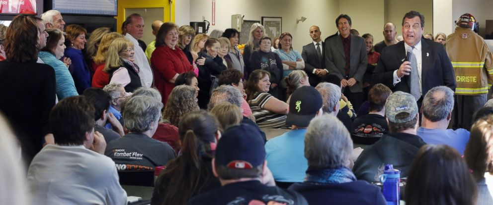 Republican presidential candidate, N.J. Gov. Chris Christie speaks to employees during a campaign stop at Globe Manufacturing, a family owned business that makes suits for firefighters, Jan. 21, 2016, in Pittsfield, N.H.