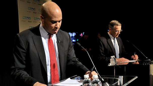 AP Cory Booker ml 130806 16x9 608 At Debate, Booker Says Relationship With Christie Is a Reason Voters Should Send Him to Senate