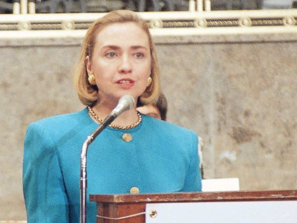 PHOTO: First lady Hillary Rodham Clinton during an event on Capitol Hill in Washington, Sept. 20, 1994.