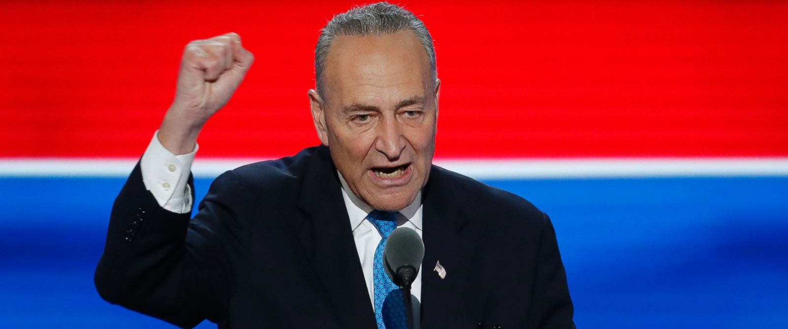 PHOTO: Sen. Chuck Schumer, D-NY., speaks during the second day of the Democratic National Convention in Philadelphia, July 26, 2016.