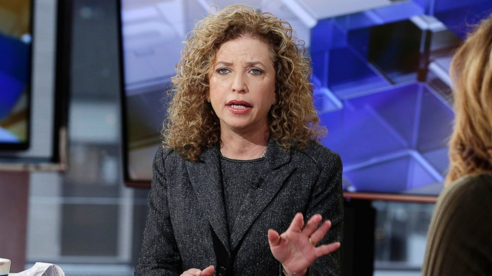 PHOTO: Democratic National Committee Chair, Rep Debbie Wasserman Schultz, D-Fla., is interviewed on March 21, 2016, in New York.