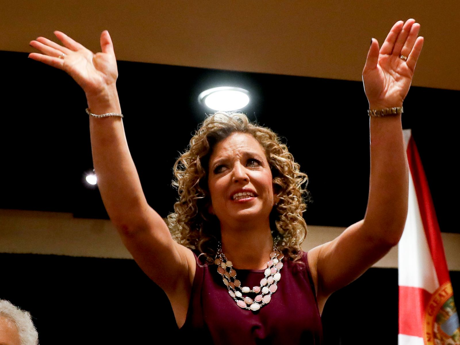 PHOTO: DNC Chairwoman, Debbie Wasserman Schultz, D-Fla., arrives for a Florida delegation breakfast, July 25, 2016, in Philadelphia, during the first day of the Democratic National Convention.