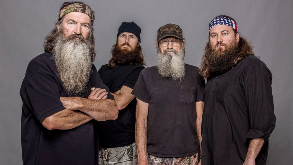 PHOTO: This 2012 photo shows, from left, Phil Robertson, Jase Robertson, Si Robertson and Willie Robertson from, Duck Dynasty. The A&E channel says Phil Robertson is off the show indefinitely after condemning gays as sinners in an interview.