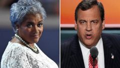 "PHOTO: Donna Brazile, left, and Chris Christie to appear on ""This Week."""