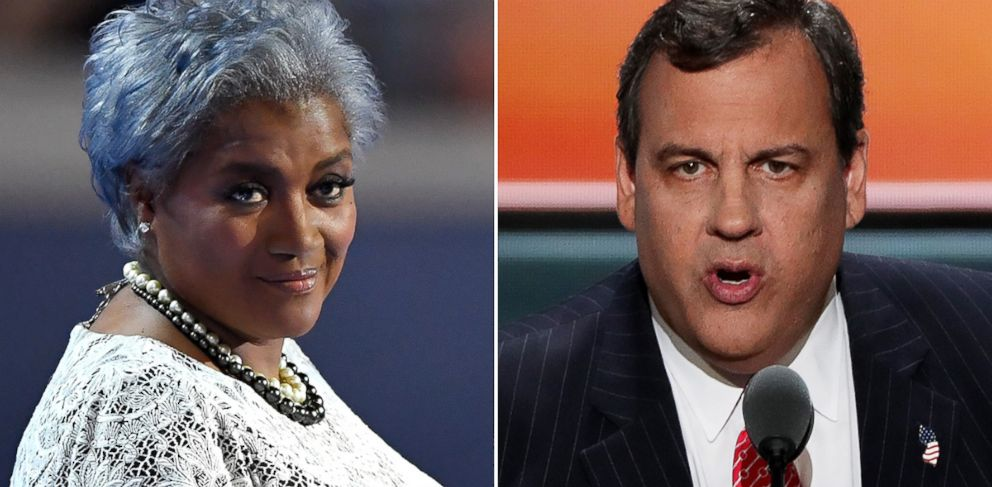 PHOTO: Donna Brazile, left, and Chris Christie to appear on This Week.