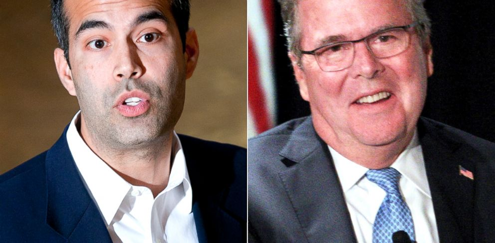 PHOTO: George P. Bush and his father, former Fla. Gov. Jeb Bush.