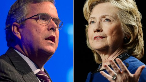 AP GTY jeb bush clinton 140324 16x9 608 Latest Hillary Clinton Jeb Bush Meeting Adds to 2016 Chatter