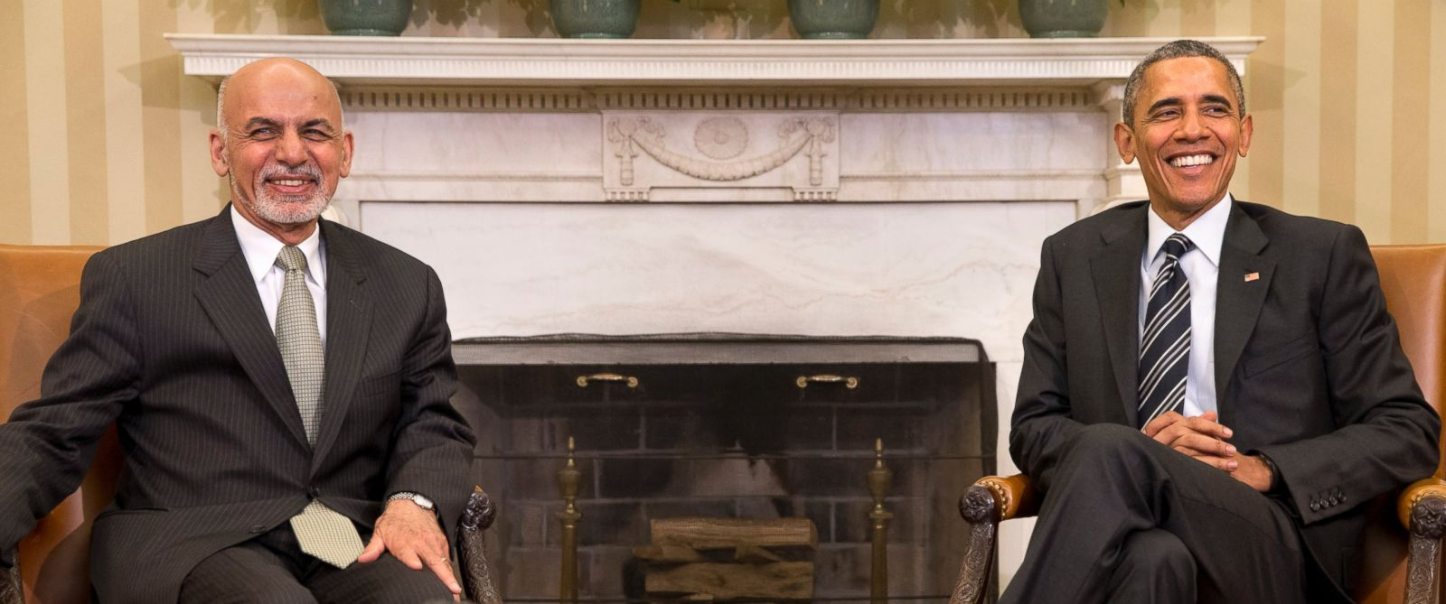 PHOTO: President Barack Obama meets with Afghanistans President Ashraf Ghani in the Oval Office of the White House in Washington, Tuesday, March 24, 2015.