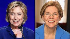 PHOTO: Former Secretary of State Senator Hillary Clinton | Sen. Elizabeth Warren, D-Mass.