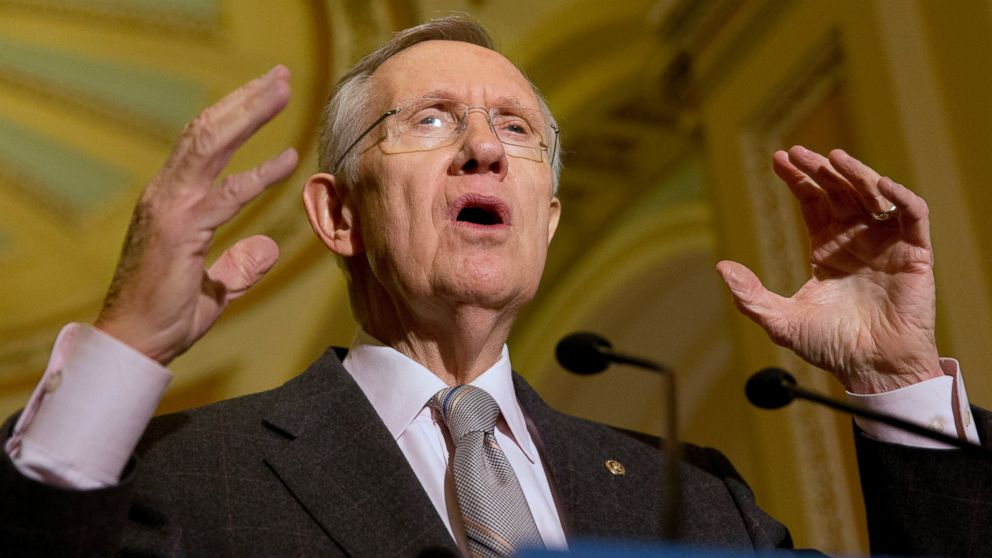 PHOTO: Senate Majority Leader Harry Reid answers a question about the possibility of an immigration reform vote in the House, during a news conference on Capitol Hill in Washington, Nov. 5, 2013.