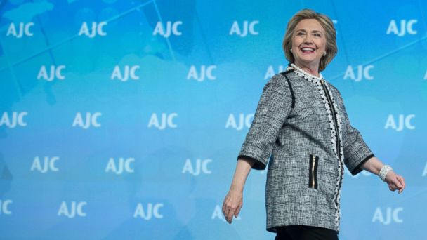 PHOTO: Former Secretary of State Hillary Rodham Clinton attends the American Jewish Committee (AJC) Global Forum closing plenary in Washington on May 14, 2014.