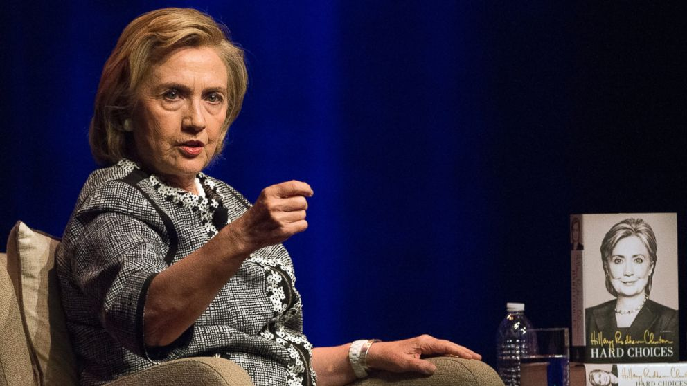 PHOTO: Hillary Rodham Clinton speaks at an event to discuss her new book in Washington, Friday, June 13, 2014. Clinton discussed choices and challenges she faced during her four years as Am