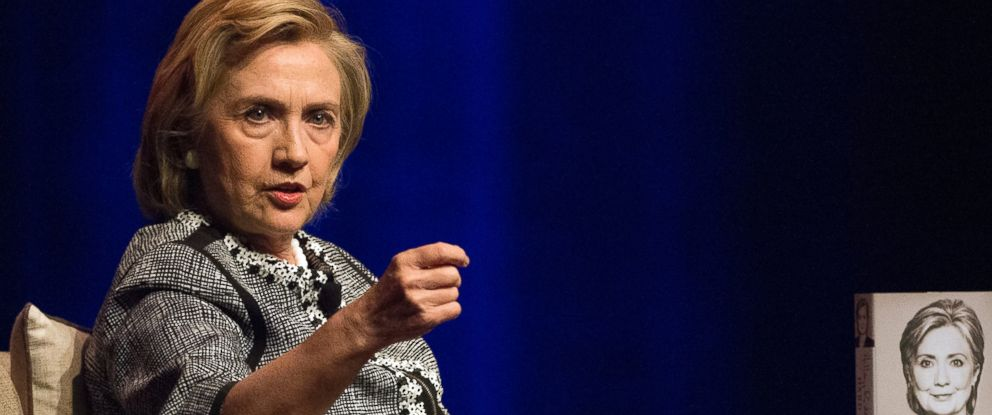 PHOTO: Hillary Rodham Clinton speaks at an event to discuss her new book in Washington, Friday, June 13, 2014. Clinton discussed choices and challenges she faced during her four years as Americas 67th Secretary of State.