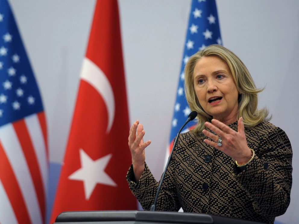 PHOTO:In this file photo, Hillary Rodham Clinton speaks at news conference during the Global Counterterrorism Forum in Istanbul, June 7, 2012.