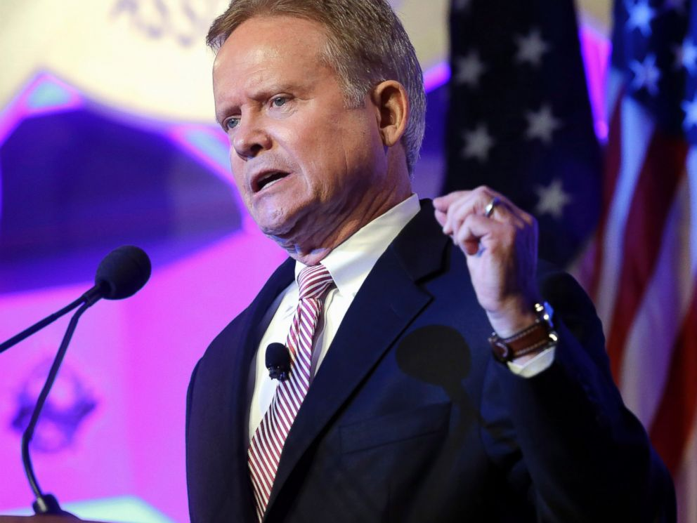 PHOTO: Former Virginia Sen. Jim Webb speaks at the National Sheriffs? Association presidential forum, June 30, 2015, in Baltimore.