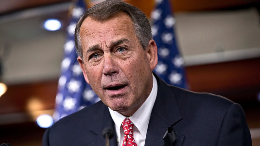 PHOTO: House Speaker John Boehner rebukes conservative groups who oppose the pending bip