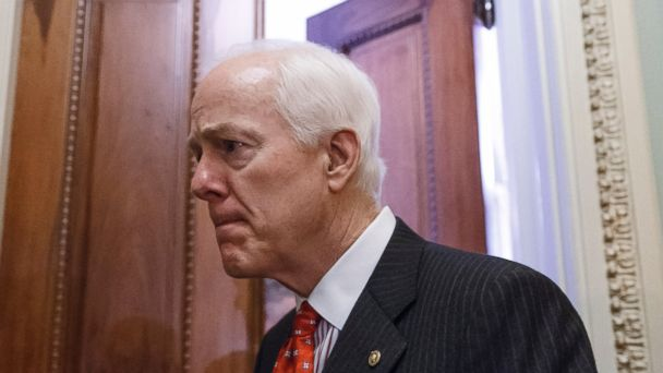 PHOTO: Senate Minority Whip John Cornyn of Texas, speaks with reporters outside his office on Capitol Hill in this Feb. 4, 2014, file photo.
